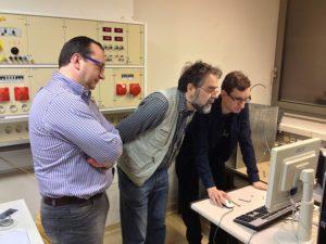 Mr. Ferdinand Stempfer, SBI, Professor Johann Laimer and Roman Koller. Photo: Margarete Drager, SBI