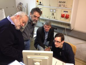 Professor Herbert Stori and Professor Johann Laimer concentrating on findings together with Rune Ingels and Roman Koller. Photo:  Margarete Drager, SBI