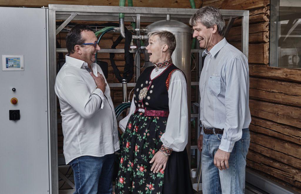 The core team:  Ferdinand Stempfer, SBI GmbH, Grete Sønsteby, N2 Applied and Rune Ingels, N2 Applied.