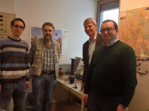 From left:  Mr. Roman Koller, Dr. Johann Laimer, Mr. Rune Ingels and Mr. Ferdinand Stempfer.   Photographer: Margarete Drager