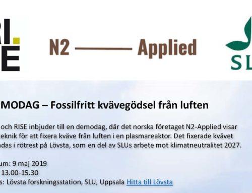 Demo event Lövsta forskningsstation, SLU, Uppsala
